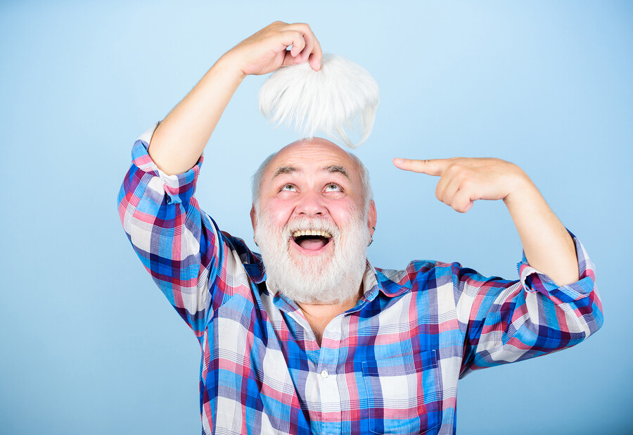 Glatze ein Problem Echthaarperücken für Männer helfen